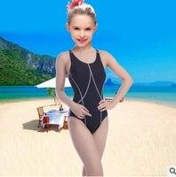Girls Professional One Piece Swimsuit Kids Swimming Racing Competition Swimwear Sports Beachwear Bathing Suits Swim Body Clothes