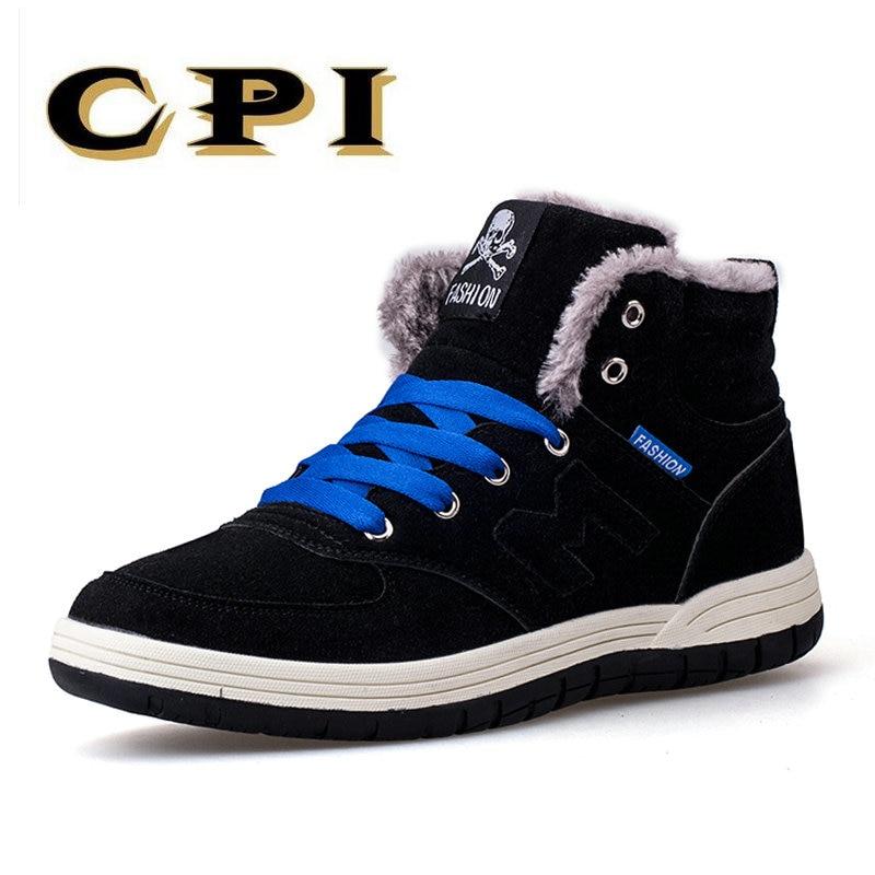 CPI Novos Homens Da Moda Botas de Neve de Inverno Manter Quente Botas de Neve Bota de Neve De Pelúcia Tornozelo Sapatos de Trabalho dos homens Casuais tamanho botas 39-45 XP-11