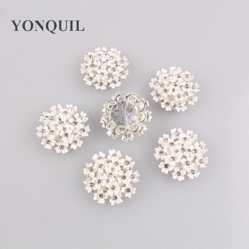 Beautiful Clear Crystal Small Flower Rhinestone Brooch Bouquet for wedding DIY jewelry accessories 20pcs/lot MYQB008