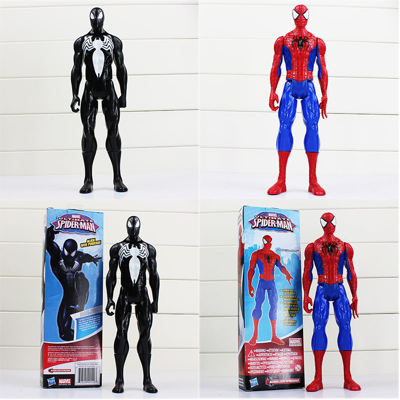 Superhero The Avengers Spiderman Black Goblin Venom PVC Action Figure Toys Spider Man Joints Moved Model Toy 30cm free shipping the avengers the amazing spider man movie spiderman will light 17cm pvc action figure toys new christmas gifts