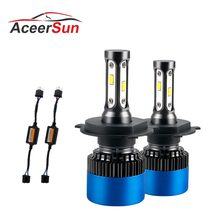 Aceersun H7 LED H4 LED H11 Car Light Canbus Headlight Bulb 12000LM canbus H8 H9 H1 HB3 9005 9006 80W 6500K 12V 24V Auto HB4 Led(China)