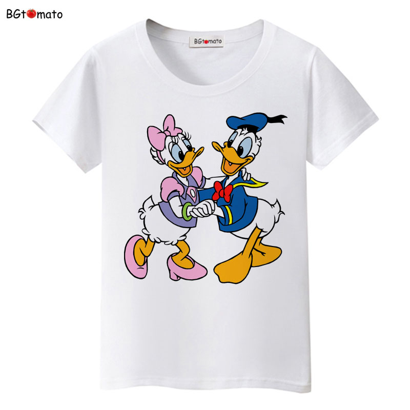 BGtomato Famous cartoon good friends T-shirts women's popular cartoon lovely tees Good quality brand casual tops cool shirts image