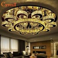 Nowoczesne lampy kryształowe salon lampy okrągłe proste doprowadziły lampa sufitowa