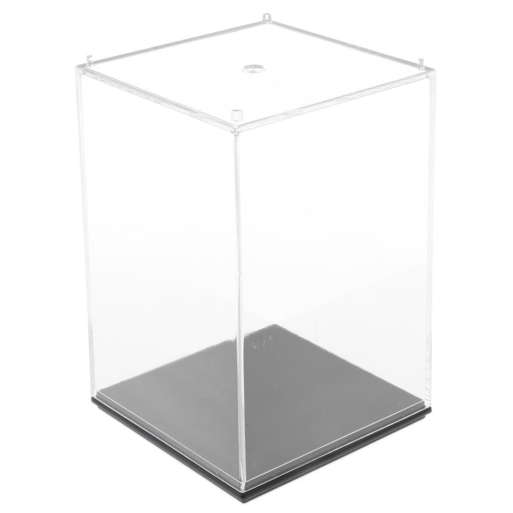 10x10x14cm Clear Acrylic Display Box for Anime Figures Doll Show Case