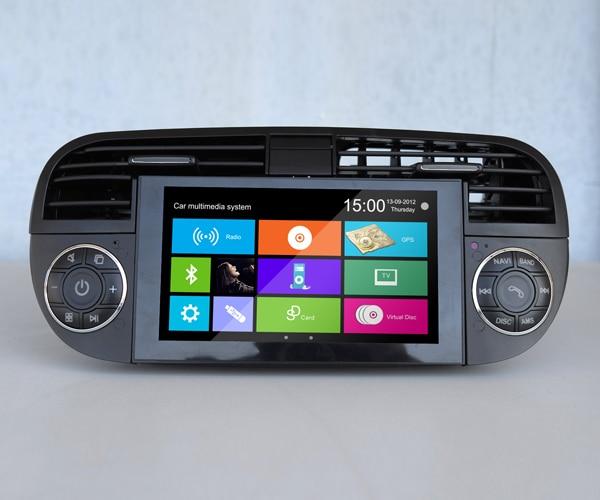 fiat 500 abarth 500 navigation system 2007 2014 radio tv. Black Bedroom Furniture Sets. Home Design Ideas