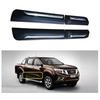 EXTERIOR AUTO ACCESSORIES BODY KITS DOOR PLATE COVER CAR STYLING TRIMS PLATE FIT FOR NISSAN NAVARA NP300 2015 2018 CAR 4DOOR