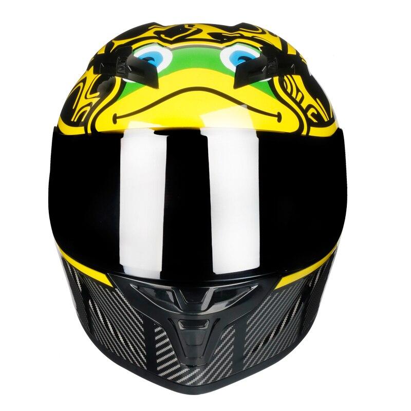 Completa Rosto Capacete de moto rcycle off raod moto cross para corridas de capacetes de moto ciclista kask moto cross moto Leme