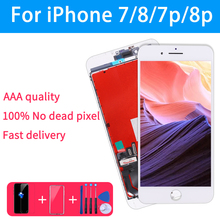 AAA Quality LCD Screen For iPhone 7 Display Assembly Replacement with Original Digitizer Phone Parts for iphone 8 8p 7p 6  lcd
