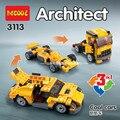 Decool 3113 arquitecto municipal 3 en 1 cool cars coche deportivo legoe camión bloques de construcción para niños juguetes compatibles