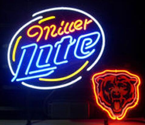 Miller Lite Chicago Bears Neon Light Sign