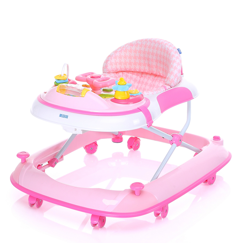 Best Selling Baby Walker Multifunctional Rollover Prevention Folding Easy Safety Large Chassi Baby Andador With Music Plate
