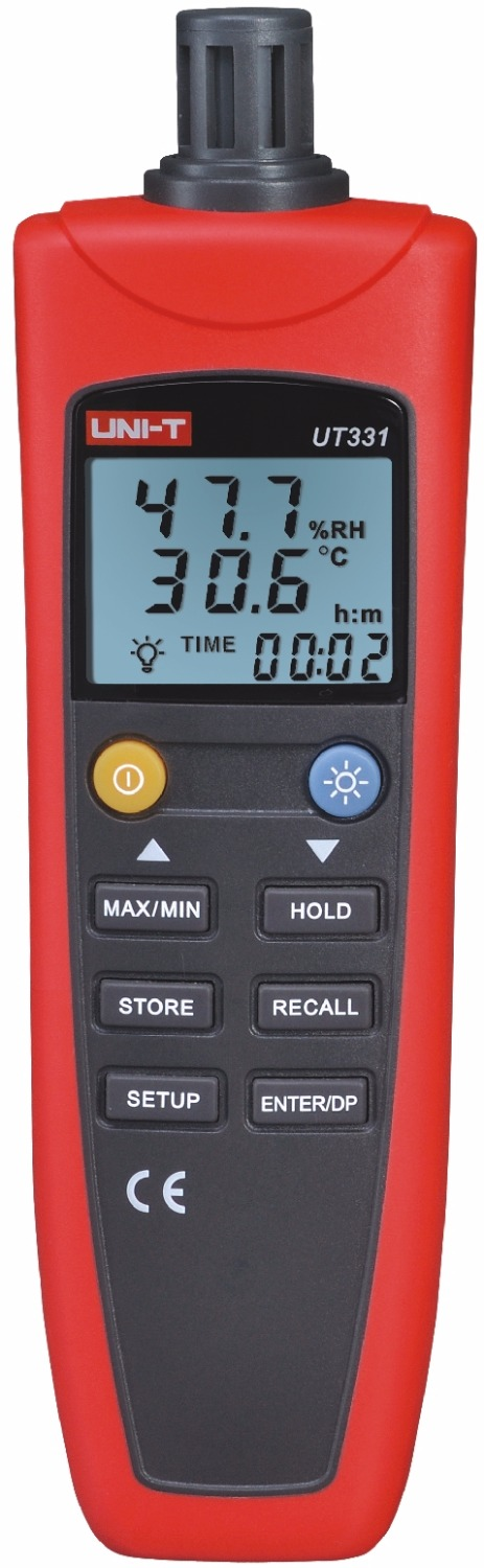 UNI-T UT331 Digital Thermo-hygrometer Thermometer Temperature Humidity Moisture Meter Tester w/LCD Backlight & USB ht 86 digital thermometer hygrometer wet bulb dew point temperature meter o0s0