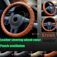 380mm Artificial Leather Universal Car Steering Wheel Cover for Golf 6 MK6 Polo Scirocco Passat CC Passat B5