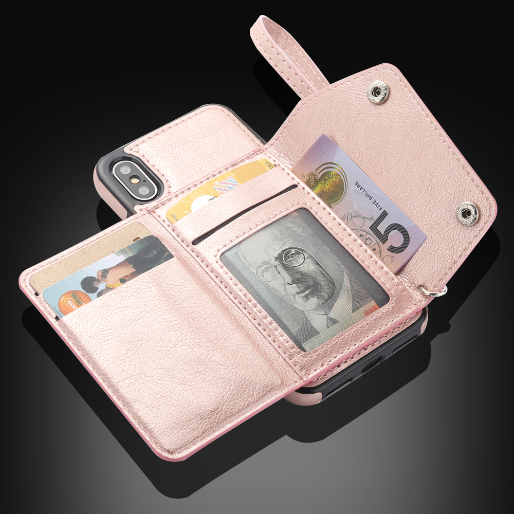 Luxury Leather Case For iPhone 11 Pro XS Max X XR 6 6s 7 8 Plus Flip Wallet Card Holder Cover Protection Phone Bags Mujer Coque