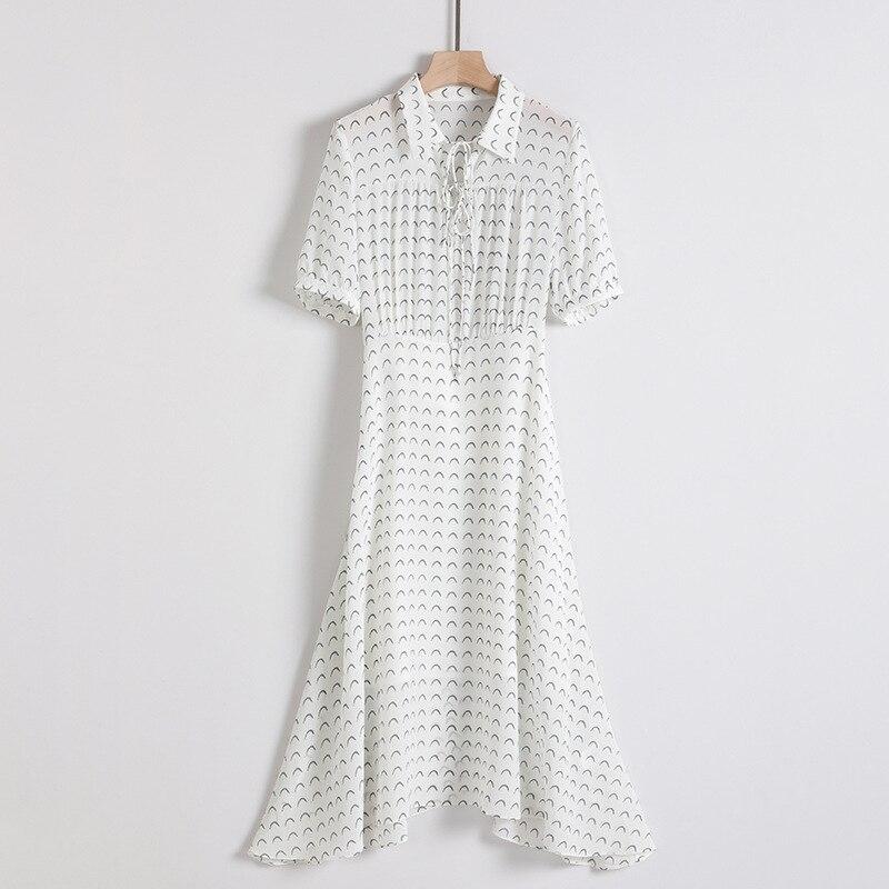 Robe en soie tournesol 2019 femmes robes d'été bohème plage grande taille maxi grande taille longue robe sexy blanc floral à manches courtes - 5