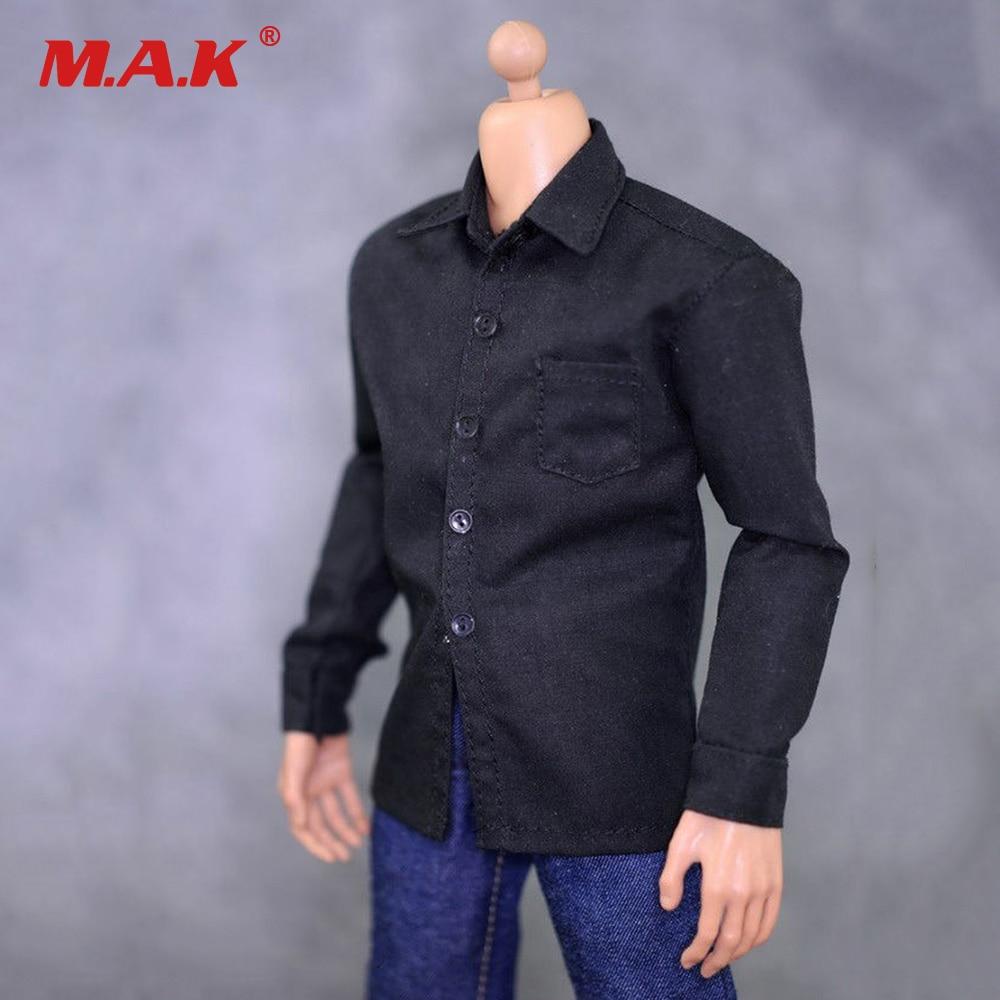1/6 Maschio Vestiti Vestito Nero Camicia di Jeans Set Per 12 pollice Maschio Action Figure1/6 Maschio Vestiti Vestito Nero Camicia di Jeans Set Per 12 pollice Maschio Action Figure
