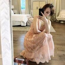 In Momo lace dress, girl's heart, fairy dress, pink waist, chic waist , super fairy waist waist .