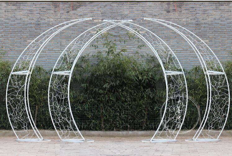Wedding props colorful arch frame iron art large colorful road lead stage decoration rainbow road lead.