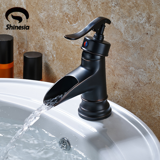Free Shipping Oil Rubbed Bronze Solid Brass Bathroom Faucet Single ...