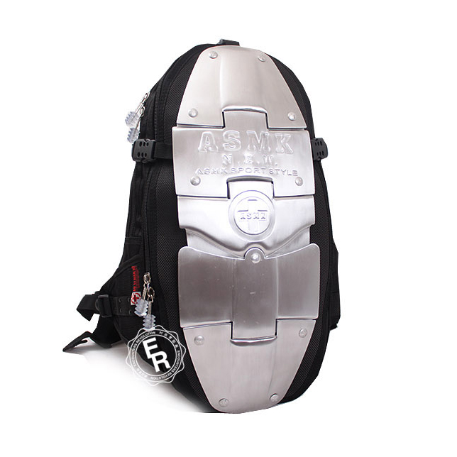 Aluminum Armor Motorcycle Backpacks Waterproof Nylon Multi-functional Backpacks Motorcycle Helmet Can Put In The Backpack