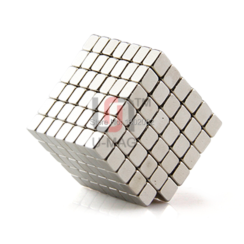 100pcs mini block 4x4x3mm N50 Rare Earth NdFeB Cuboid neodymium Magnet
