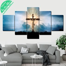 дешево!  5 Шт. Христианский Пересечение Wall Art Холст Плакат и Печать Холст Картины Декоративная Картина  Лучший!