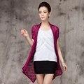 Envío gratis Nueva Moda 2017 Mujeres de Primavera y Verano Flojo Cardigans Flor Shrugs Suéter Playa Encubrimiento Crochet de Algodón