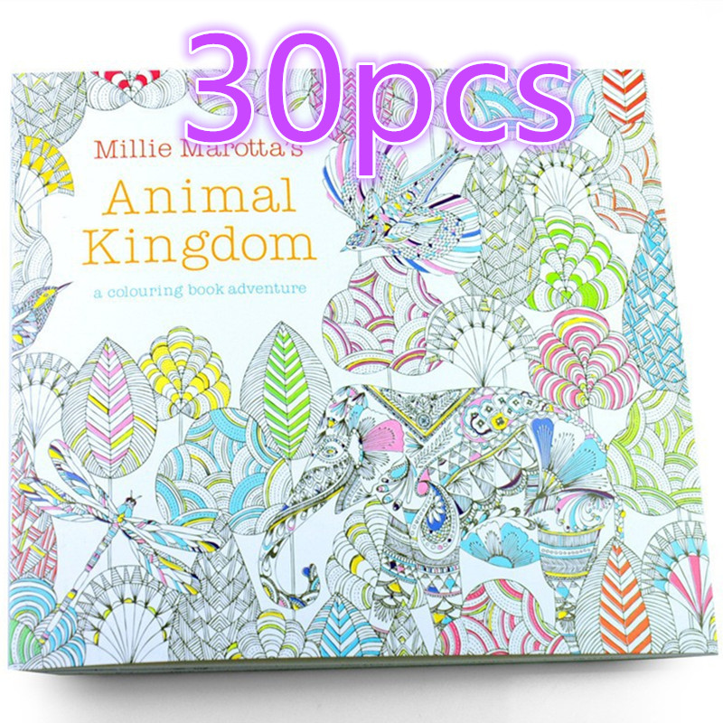 wholesale 30pcs enchanted forest antistress coloring book children adult relieve stress painting antistress free shipping in drawing toys from toys - Wholesale Coloring Books