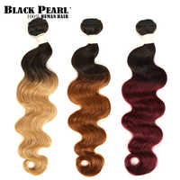 Black Pearl 2 Tone Color Ombre Brazilian Body Wave Bundles 1/3/4 Pcs Non Remy 100% Human Hair Bundles T1B/27# T1B/30# T1B/99J#