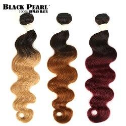 Black Pearl 2 Tone Color Ombre Brazilian Body Wave Bundles 1/3/4 Pcs Non Remy 100% Human Hair Bundles T1B/27# T1B/30# T1B/99J#