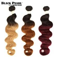 Czarna perła 2 Tone kolor Ombre brazylijski doczepy typu body wave 1/3/4 sztuk nie Remy ludzki włosy 100% człowieka wiązki włosów t1B/27 # T1B/30 # T1B/99J #