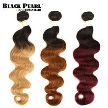 Mechones de cabello humano con ondas para mujer mechones de cabello no Remy de Color negro perla de 2 Tono de Color, extensiones de cabello humano brasileño ondulado de 1/3/4 uds, T1B/27 # T1B/30 # T1B/99J #