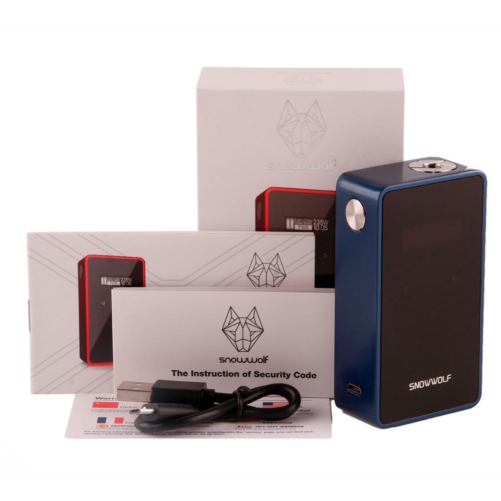 Original Snowwolf 200W Plus C Box Mod TC Electronic Cigarette Mods 18650 Battery 0 9inch Screen