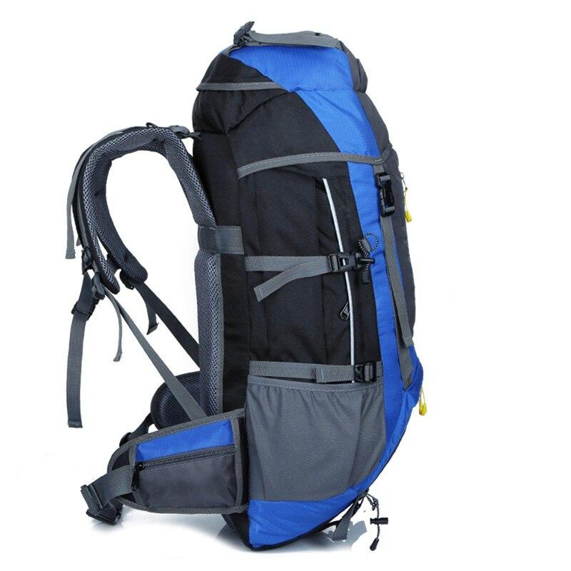 Mochila de senderismo impermeable de 70 L para senderismo, escalada, montañismo, mochila de viaje al aire libre, mochila de senderismo de 5 colores - 4