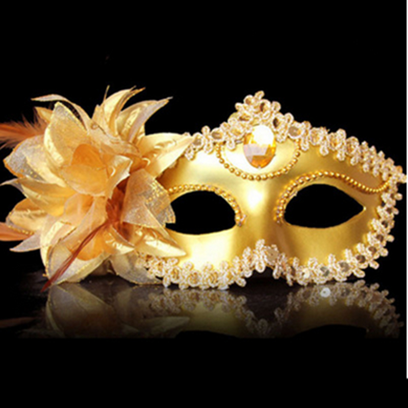 2016 Hot Women Costume Prom Mask Venetian Mardi Gras Party Dance Masquerade Ball Halloween Mask Fancy Dress Costume 4 Colors