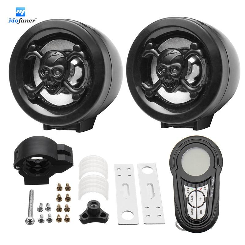 Waterproof Bluetooth Motorcycle Audio Radio Sound System Stereo Speakers MP3 USB