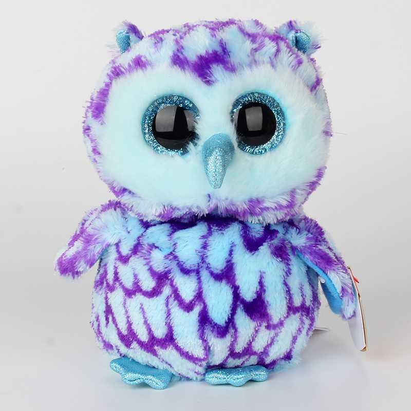 2018new 6 18cm Ty Beanie Boos Original Big Eyes Plush Toy Doll Multicolor Owl TY Baby For Kids Birthday Gift beanie babies yo gabba gabba plex 35cm plush toys