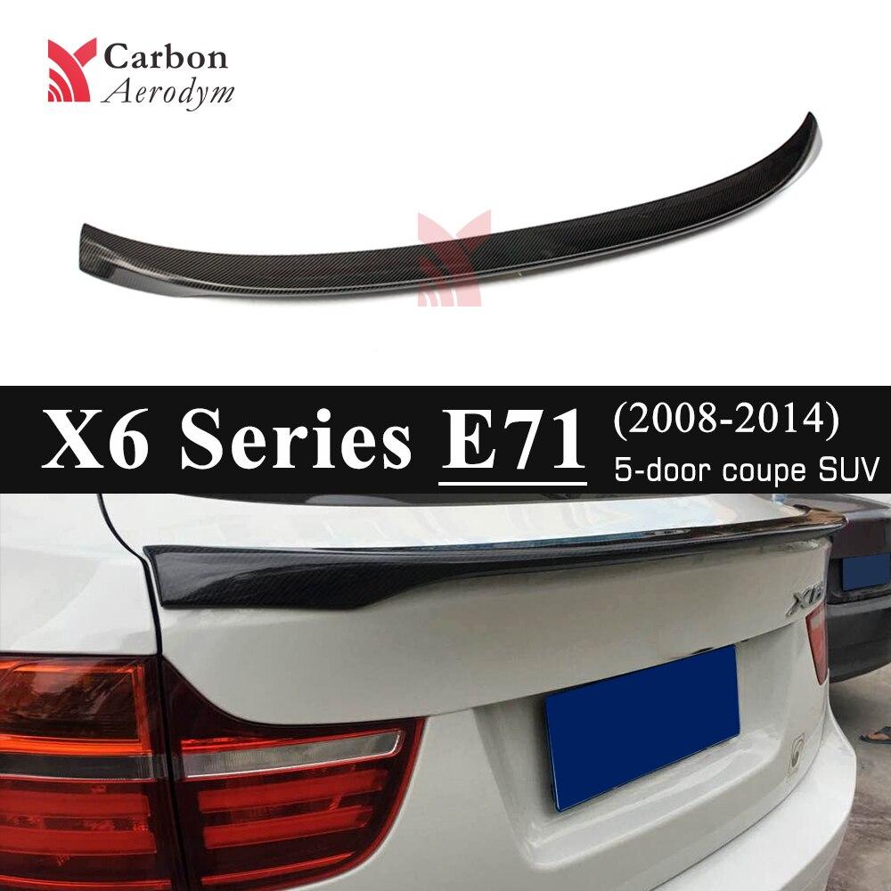 Aile de becquet de voiture automatique pour BMW Style de Performance aile de becquet de lèvre de coffre arrière en Fiber de carbone réelle pour BMW E71 X6 2008-2014