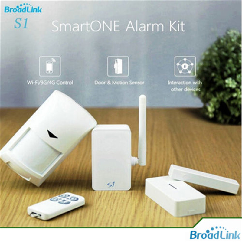 все цены на New Arrival Broadlink S1/S1C SmartOne Door Sensor Alarm&Security Kit For Home Smart Home System mobile phone Remote Control онлайн