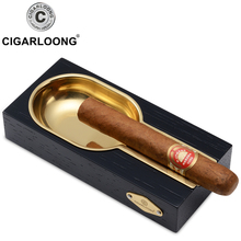 цена на CIGARLOONG cigar gold plated smoke ashtray tank piano paint sangioveses cedar wood smoke detector LC-072