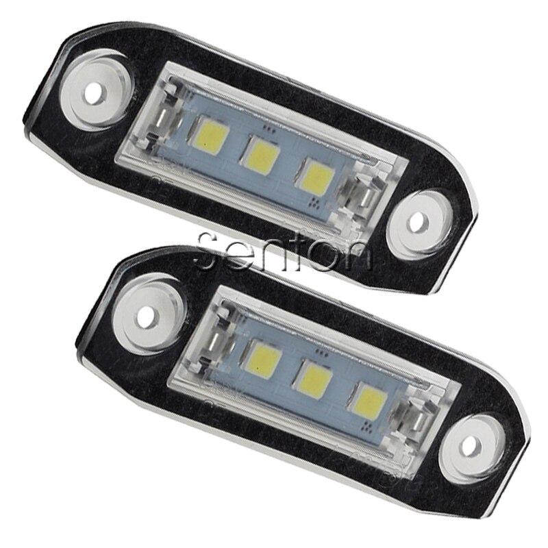 1 Paire De Voiture LED nombre de Plaque D'immatriculation 12 V Blanc SMD LED lampe Styling de voiture Pour Volvo XC90 S80 V70 S60 XC60 S40 V50 accessoires