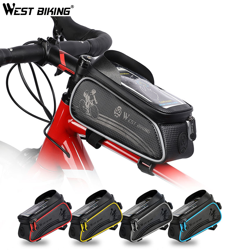Bicycle Cycling Bike Front Top Tube Frame Bag MTB Phone Holder Case Waterproof
