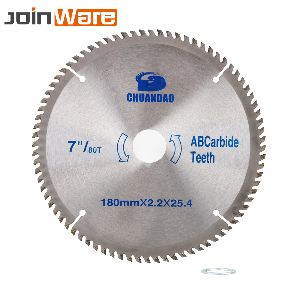 7inch Circular Saw Blade Carbide Alloy Cutter Blade TCT Blade For Wood Cutting Woodworking Tool 180x25.4x2.2MM 40/60/80Teeth