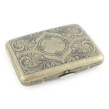 2018 Bronze Vintage Metal Cigarette Case Holder Pattern 16 PCS Tube Cigar Retro Pocket Box