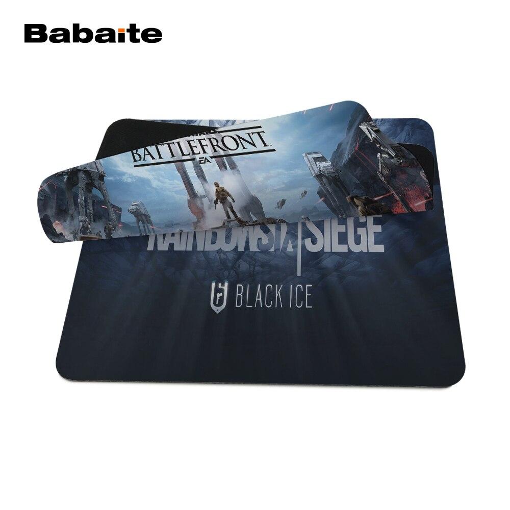 Babaite Звездные Войны Плакат пользовательские высокое качество ткани резиновые рабочего Ноутбука Удобные 18*22 см и 25*29 см игровой