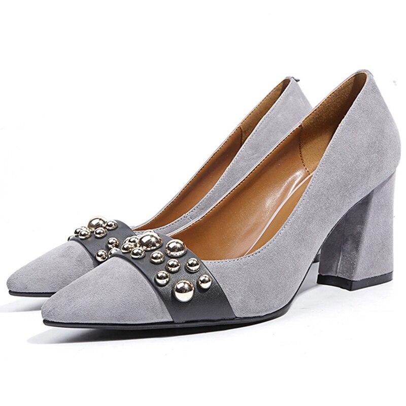 Anmairon f Basic High Heel Square Schuhe R54AjL