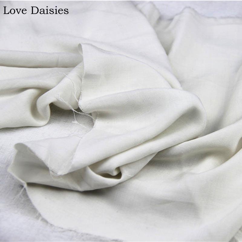 100% Rayon WEIß Cremig-weiß Sehr Dünne Zarte Glatte Stoff für DIY Schal Sommer Bekleidung Kleid Bluse Trainingsanzug Futter tissue