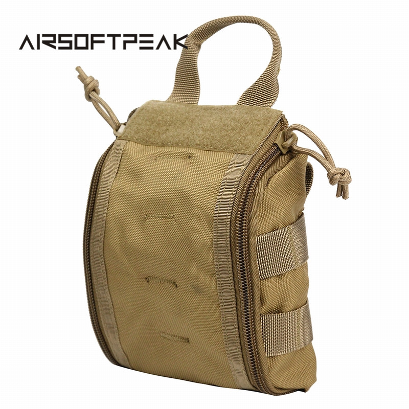 AIRSOFTPEAK Tactical Molle Medical Kit Pouch Emergency Survival Väska Väska Första hjälpen Kit Pouch Tool EDC Hunting Utility Belt Bag