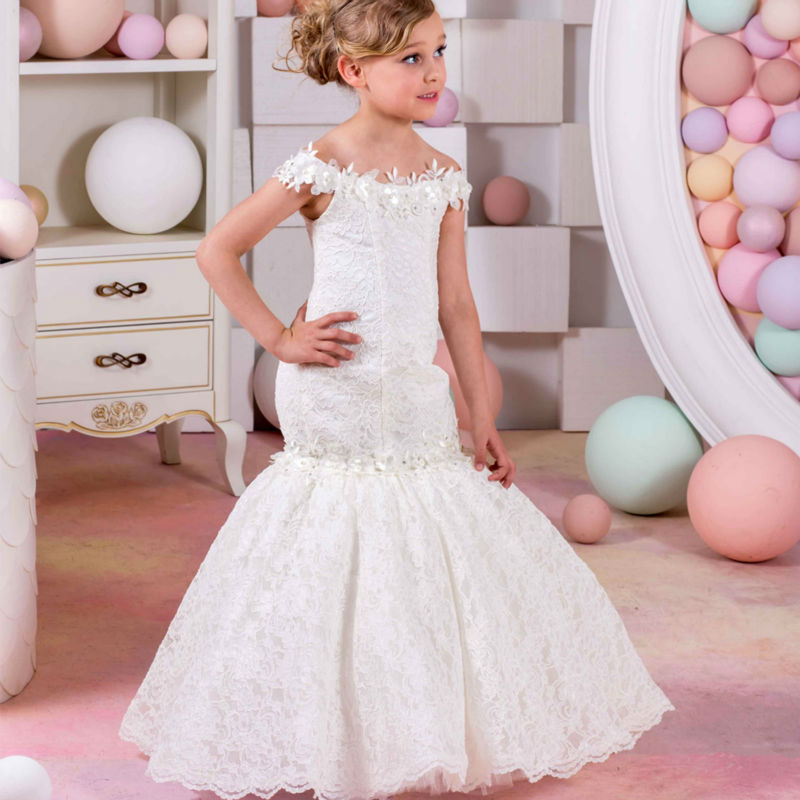 Ball Gown Prom Dress Flower Girls Dresses for Wedding Lace Up Holy Communion Dresses Long Lace Mother Daughter Dresses цена 2017