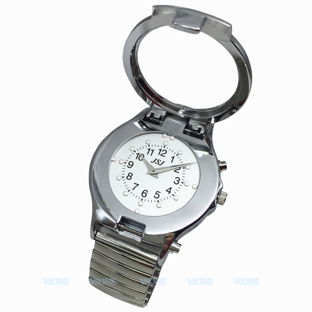 English Talking & Tactile Watch For Blind People Or Visually Impaired People Or Elderly, Talking Date & Time,Expanding Bracelet
